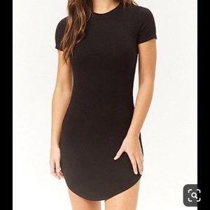 Bodycon black tshirt dress